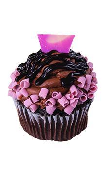Jumbo Chocolate Raspberry Filled Cupcake
