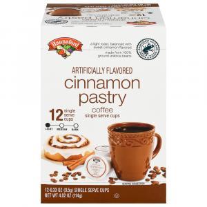 Hannaford Cinnamon Pastry Coffee Single Serving Cup
