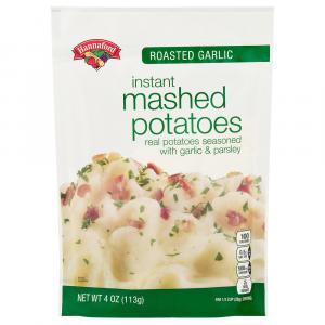 Hannaford Roasted Garlic Instant Mashed Potatoes