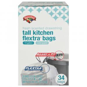 Hannaford Tall Kitchen Drawstring Flextra Bags Fresh Scented