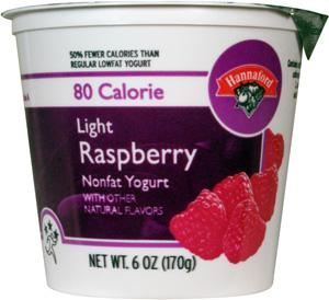 Hannaford Light 80 Calories Raspberry Yogurt