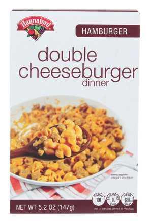Hannaford Double Cheeseburger Dinner