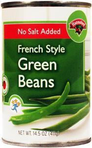 Hannaford No Salt Added French Cut Green Beans