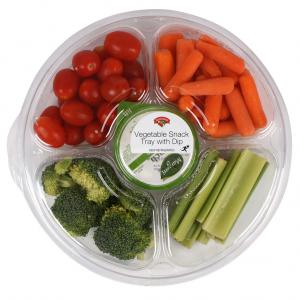 Hannaford Veggie Snack Tray with Dip