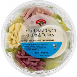Hannaford Chef Salad with Ham & Turkey