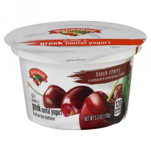 Hannaford Greek Nonfat Black Cherry Yogurt
