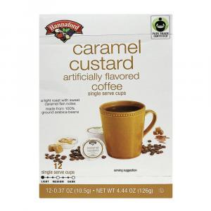 Hannaford Caramel Custard Coffee Single Serving Cup