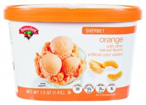 Hannaford Orange Sherbet