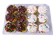 Hannaford Mini Gold Cupcakes with Confetti