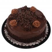 Triple Layer Chocolate Truffle Cake