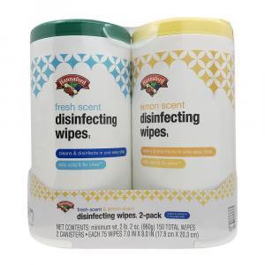 Hannaford Lemon & Fresh Scent Disinfecting Wipes Combo