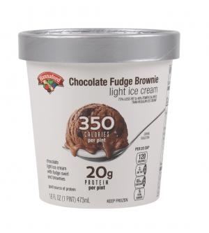 Hannaford Light Ice Cream Chocolate Fudge Brownie