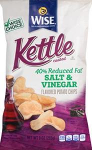 Wise Kettle Reduced Fat Salt & Vinegar Chips