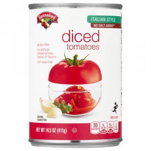Hannaford No Salt Added Italian Style Diced Tomatoes