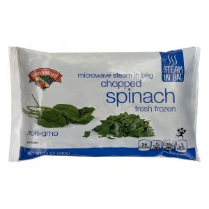 Hannaford Steam-in-Bag Chopped Spinach