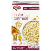 Hannaford Maple & Brown Sugar Instant Oatmeal