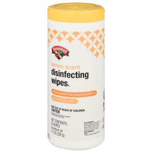 Hannaford Lemon Scent Disinfecting Wipes