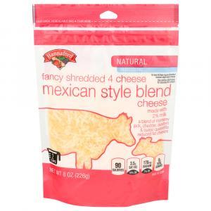 Hannaford 2% Mexican Fancy Shredded Four Cheese Blend