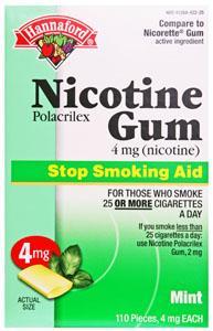 Hannaford Mint 4mg Nicotene Gum