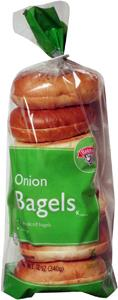 Hannaford Frozen Onion Bagels