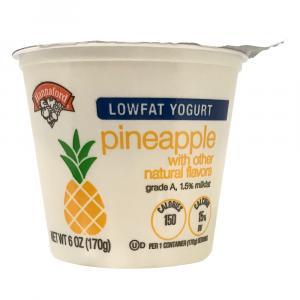 Hannaford Lowfat Pineapple Yogurt