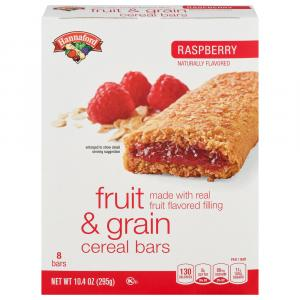 Hannaford Raspberry Cereal Bars