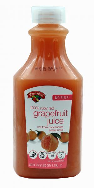 Hannaford Ruby Red Grapefruit Juice Not From Concentrate