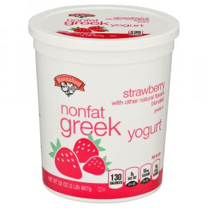 Hannaford Strawberry Nonfat Greek Yogurt