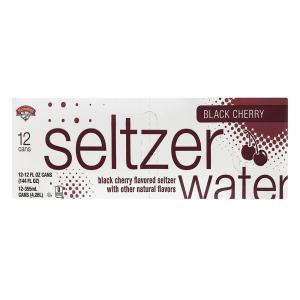 Hannaford Black Cherry Seltzer Water