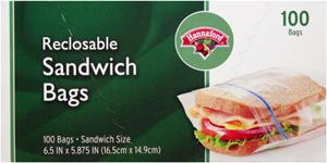 Hannaford Reclosable Sandwich Bags