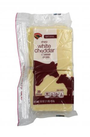Hannaford Natural Sharp White Cheddar Cheese Slices