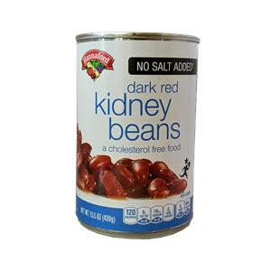 Hannaford No Salt Added Dark Red Kidney Beans