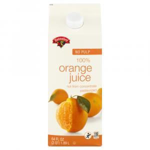 Hannaford Premium Orange Juice Carton