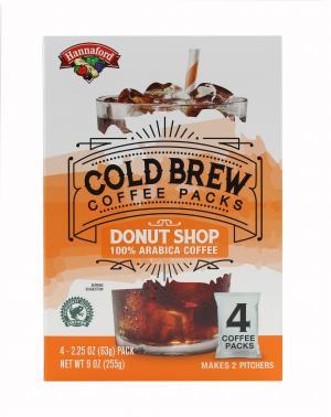 Hannaford Cold Brew Coffee Packs Donut Shop