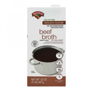 Hannaford Reduced Sodium 99% Fat Free Beef Broth