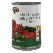 Hannaford Diced Tomatoes with Green Chiles