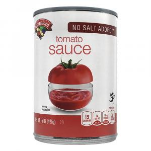 Hannaford No Salt Added Tomato Sauce