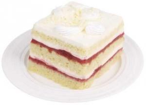 Triple Strawberry Cake Square