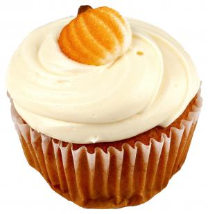 Jumbo Pumpkin Cupcake With Cream Cheese Icing