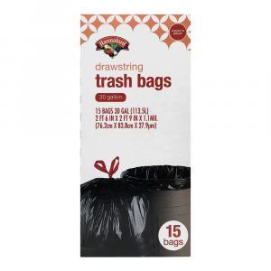 Hannaford 30-Gallon Drawstring Trash Bags