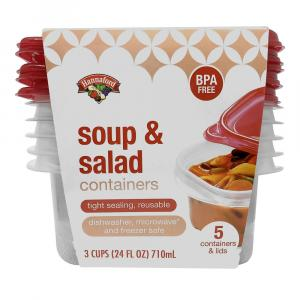 Hannaford Soup & Salad Container & Lids