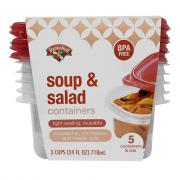 Hannaford Soup & Salad Container & Lids