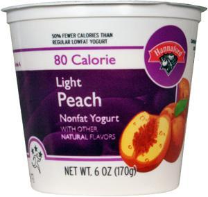 Hannaford Light 80 Calories Peach Yogurt