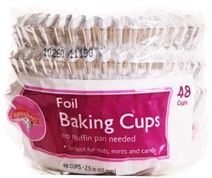 "Hannaford 2.5"" Foil Paper Baking Cups"