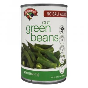 Hannaford No Salt Added Green Beans