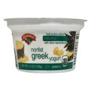 Hannaford Greek Nonfat Pineapple Yogurt
