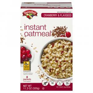 Hannaford Cranberry Flax Oatmeal