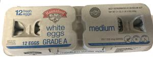 Hannaford Medium White Eggs