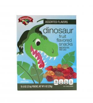 Hannaford Assorted Flavors Dinosaur Fruit Flavored Snacks