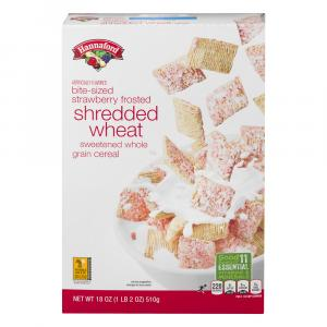 Hannaford Frosted Strawberry Shredded Wheat Cereal